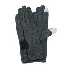 David & Young David & Young Two Bow Touch Screen Glove - Clothing - Handbags & Accessories - Hats, Gloves & Scarves
