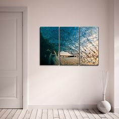 Ready2hangart Nicola Lugo 'Surf Photography' Canvas Art 3-piece Set ($101) ❤ liked on Polyvore featuring home, home decor, wall art, ocean wall art, canvas wall art, photo canvas wall art, set of three wall art and photography wall art