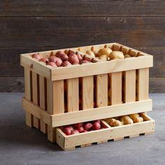 Wood Potato Storer #williamssonoma