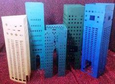 DIY 3D Build a city skyscraper set of five