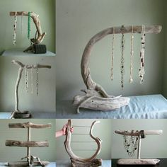 Our line of boutique driftwood jewelry displays! 10% to jewelry designers! www.driftingconcepts.com