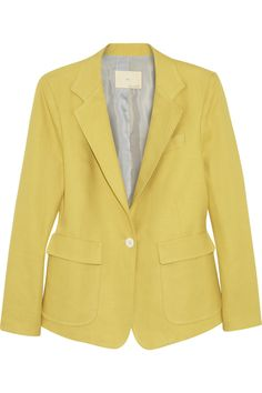 Band of Outsiders|Linen and cotton-blend twill blazer