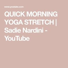 QUICK MORNING YOGA S