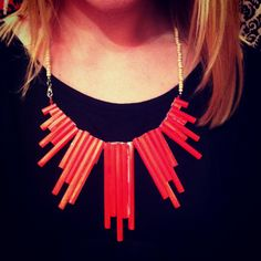 DIY straw necklace! Made by Flannery.