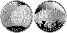 The coin's design is the work of Latvian artist Gunārs Krollis