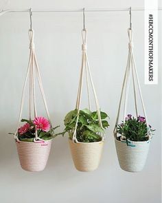 In the studio with @zillpa – pretty maids all in a row – hanging baskets #hbcc #hbcreativecollection #hbccmakeraday #zillpa #maker #rope #homewares #australiandesign #handmade #colour #sewing #homebeautiful @homebeautiful