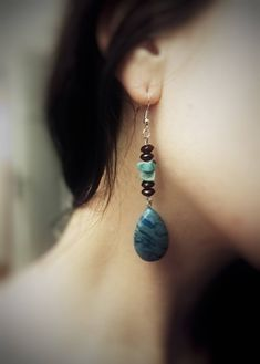 Water drop earrings by GemesisJewels on Etsy