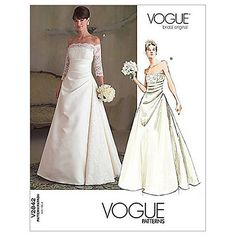 Buy Vogue Women's Bridal Original Dress Sewing Pattern, 2842 Online at johnlewis.com