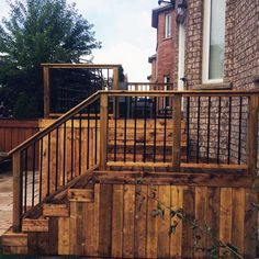 Top 50 Best Deck Skirting Ideas Elevated Backyard Designs Deck and Patio Wood Deck Railing, Deck Railing Design, Front Porch Design, Front Deck, Deck Design, Railing Ideas, Patio Stairs, Porch Railings, Interior Railings