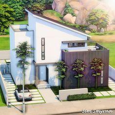 Sims 4 House Plans, Sims 4 House Building, Sims 4 Bedroom, Sims 4 House Design, Casas The Sims 4, Sims 4 Build, House Blueprints, Architecture, Sims Ideas