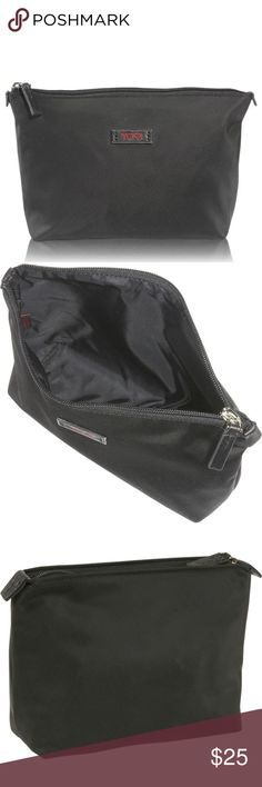 Tumi Nylon Bag A sleek, durable zip pouch is perfect for organizing small essentials—everything from personal accessories to electronics. Streamlined, functional and stylish, it's ideal for travel or everyday use.  Top zip closure. Nylon Fabric. By Tumi; imported. Tumi Bags Cosmetic Bags & Cases