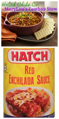 Our famous Hatch Red Chile Enchilada Sauce is in this yummy stew! Try the recipe today! Hatch Chile Co   Marylou's Famous Cowboy Stew Cowboy Stew, Red Enchilada Sauce, Ground Meat, 1 Pound, Bean Recipes, Recipe Today, Enchiladas, Noodle