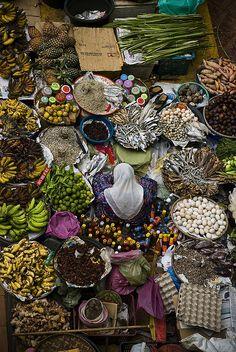 tapio-ca:  Malaysia Vegetable Market Photograph byDavid Vilder