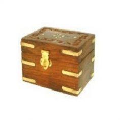 Carved Wooden Box holds 6 x 10ml bottles