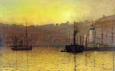 All of our John Atkinson Grimshaw Nightfall in Scarborough Harbour prints are waterproof, produced on state-of-the-art, professional-grade Epson printers. Description from paintingandframe.com. I searched for this on bing.com/images