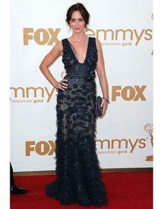 Emily Blunt - Elie Saab  http://www.harpersbazaar.com/cm/harpersbazaar/images/du/hbz-best-dressed-Emily-Blunt-emmy-awards-2011-de.jpg