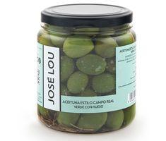 Envasado y distribucion de aceitunas y encurtidos de calidad   Productos de Aragón y Sur de España. Aceituna aliñada estilo Campo Real 450GR.