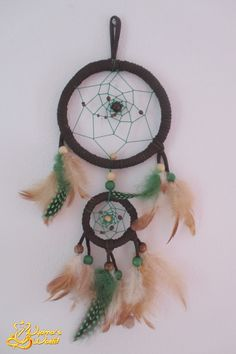 Dreamcatcher: 12cm in diameter (Big Ring) x 38cm long.  Price: MP  Accepted orders.
