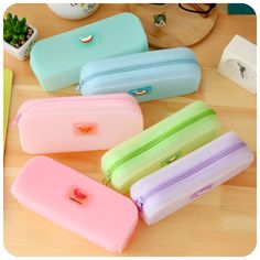 Cute Various Fruits Jelly Pencil Case Silicone Large Capacity Pen Bag Kawaii Stationery School Supplies Escolar Papelaria Girls(China (Mainland)) Stationary School, School Stationery, Kawaii Stationery, Cool Pencil Cases, Cool School Supplies, School Accessories, Locker Accessories, Cute Pens, Pencil Bags