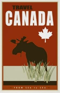 Beautiful travel image of Canada depicting the great Western Moose and Maple Leaf. Canadian Travel, Canada Images, Pub, Travel Images, Vintage Travel Posters, Custom Posters, Postcard Size, Vacation Trips, Canvas Art Prints