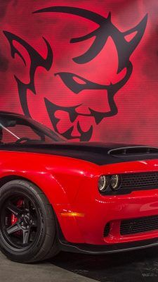 Iphone Wallpaper Dodge Demon Muscle Car 2018 Dodge Demon Dodge