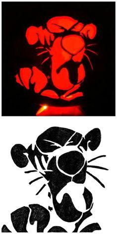 Free: Tiggers Don't Like Hunny, Pumpkin Stencil