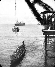 Ausschiffung in Port Bonet, 1933 Boats, Sailing, Candle, Boating, Ships, Boat, Ship