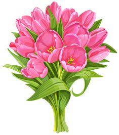 Tulips Bouquet Transparent PNG Clip Art