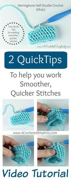 Christina Crochet Passion: 2 Quick Tips for working the Herringbone Half Doub...