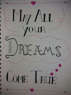 #handlettering #dreams #quotes