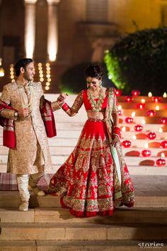 Looking for Red manish malhotra bridal lehenga? Browse of latest bridal photos, lehenga & jewelry designs, decor ideas, etc. on WedMeGood Gallery. Indian Bridal Outfits, Indian Bridal Wear, Bridal Dresses, Indian Dresses, Manish Malhotra Bridal Lehenga, Bridal Lehenga Choli, Ghagra Choli, Designer Bridal Lehenga, Lehenga Designs