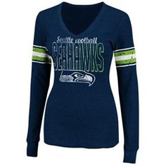 Seattle Seahawks Women's Long Sleeve Fitted Thermal Shirt