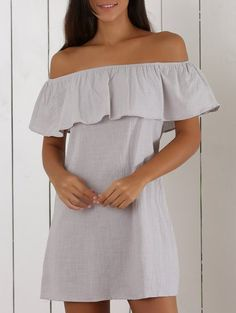 SHARE & Get it FREE | Off The Shoulder Ruffles Insert Casual DressFor Fashion Lovers only:80,000+ Items • New Arrivals Daily Join Zaful: Get YOUR $50 NOW!