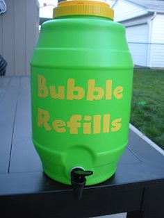 No more crying over spilt bubbles!  Bubble recipes inside.