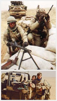 French Soldiers in Iraq during Gulf War I Desert Storm / Operation Daguet