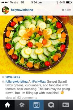 For dinner parties with fruit salad instead