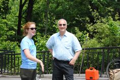 Hanging out with Maggie Greenfield from the Bronx River Alliance at the annual Bronx River Festival - June 2, 2012.