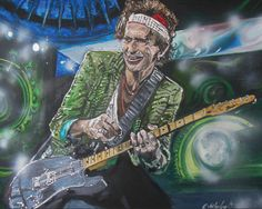 Keith Richards - Painting by Grant Netherlands contact Grant email:gnethrelands1@gmail.com Keith Richards, Netherlands, Fine Art, Painting, Fictional Characters, The Nederlands, The Netherlands, Painting Art, Paintings