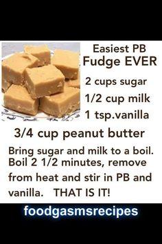 Easiest Peanutbutter fudge EVER | FoodGasms Recipes