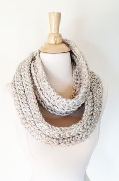 Fields of Wheat CIRCLE SCARF  Off White Neck Warmer by theyarnival, $27.00