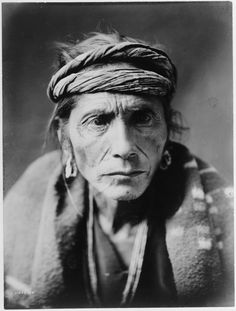 The Patient, Navajo | Edward Curtis 1905