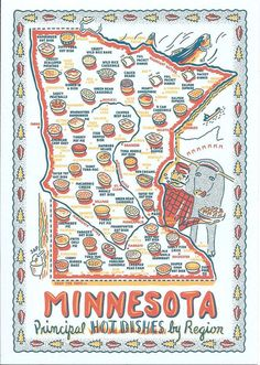Minnesota Principal Hot Dishes by Region