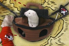 Ferret-Play-Centres-Bed-Bug-Krackle-Sack-Turtle-Pirate-Ship-Fun-Blanket