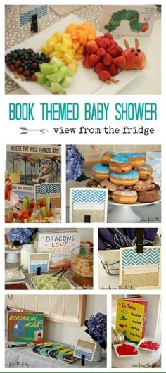 Book themed baby shower, gender neutral