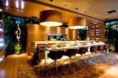 Espaço gourmet criado com tapetes Kyowa pela arquiteta Carla Felippi.