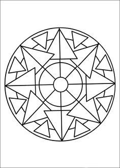 Desenhos para colorir para crianças. Desenhos para imprimir e colorir Mandalas 71