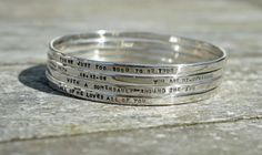 Hand Stamped Bangles - The Supermums Craft Fair