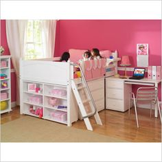 Maxtrix Kids Full Low Loft Bed with Desk, Dresser and Bookcase No Price Posted $0