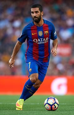Arda Turan of FC Barcelona in action during the Joan Gamper trophy match between FC Barcelona and UC Sampdoria at Camp Nou on August 10 2016 in...