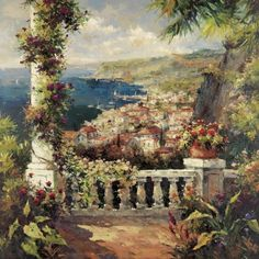 View From The Terrace by Bell, Peter - Wall Art Giclee Print or Canvas